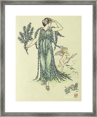 Flowers From Shakespeare's Garden  Rosemary Framed Print