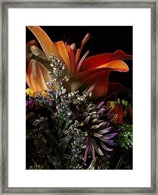 Framed Print featuring the digital art Flowers 2 by Stuart Turnbull