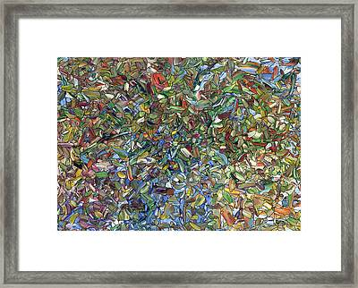 Flowers In A Blue Vase Framed Print by James W Johnson