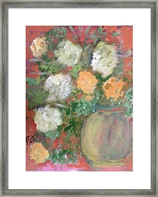 Flowers In A Pot Framed Print by Patricia Taylor
