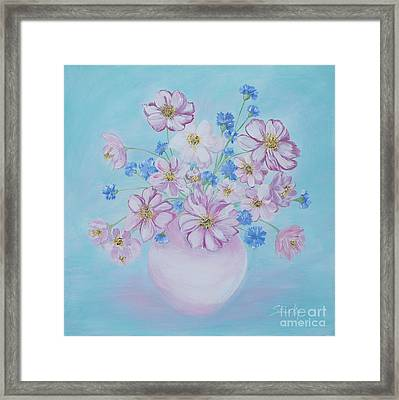 Flowers In A Vase. Delicate Home Collection Framed Print