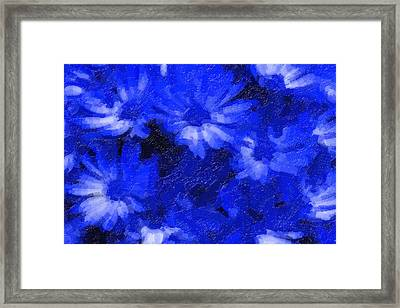 Flowers In Blue Framed Print
