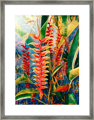 Flowers In My Garden Framed Print by Estela Robles