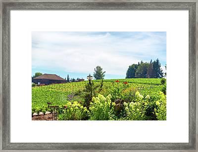 Flowers In Oregon Wine Country Framed Print by Jess Kraft