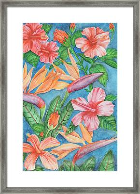 Flowers In Paradise Framed Print by Katiana Valdes