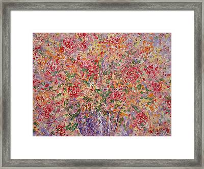 Flowers In Purple Vase. Framed Print