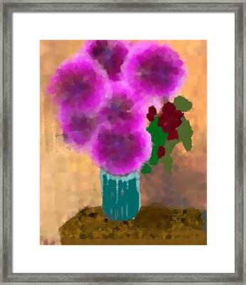 Flowers In Room Framed Print by Dr Loifer Vladimir