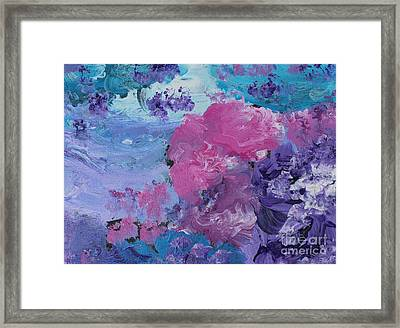 Flowers In The Clouds Framed Print