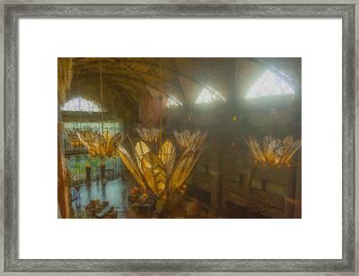 Flowers In The Garden Of Valor Framed Print