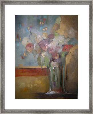 Flowers In The Rain Framed Print by M Allison