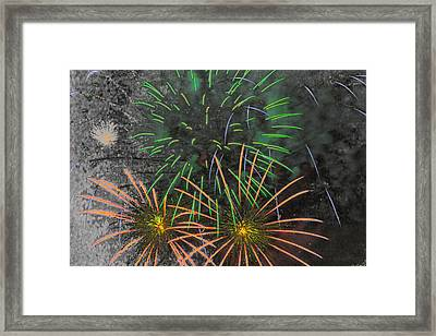 Flowers In The Sky Framed Print by Marnie Patchett