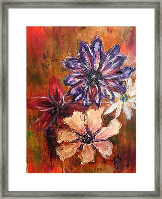 Flowers In The Spring Framed Print