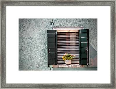 Flowers In The Window 3 Framed Print by Chris Fletcher