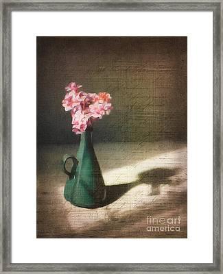 Flowers In Vase Still Life Framed Print