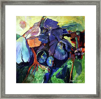Flowers Framed Print by International Artist Joan Litsey