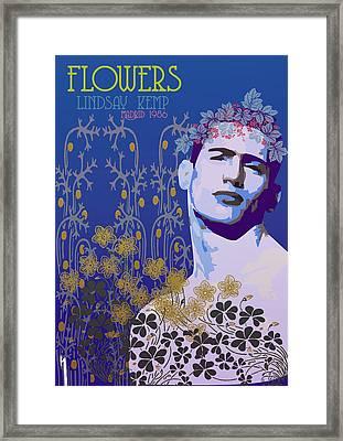 Flowers Of Lindsay Kemp Framed Print