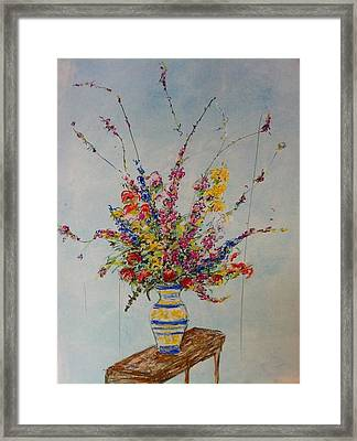 Flowers Framed Print by Marcia Nebera