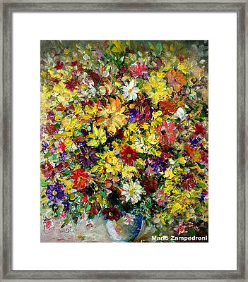 Flowers Framed Print by Mario Zampedroni