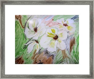 Flowers Framed Print by Maris Sherwood