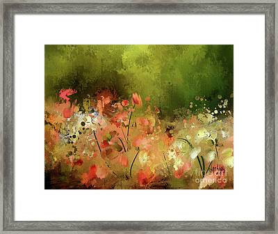 Flowers Of Corfu Framed Print by Lois Bryan