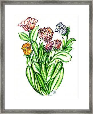 Flowers Of Fantasy Framed Print by Judith Herbert