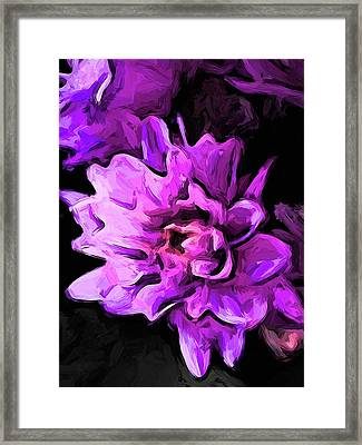 Flowers Of Lavender And Pink 1 Framed Print
