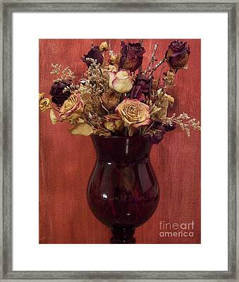 Flowers Of Love Framed Print by Marsha Heiken