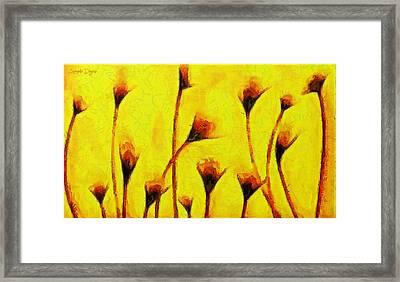 Flowers Of Love  - Van Gogh -  - Pa Framed Print by Leonardo Digenio