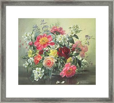 Flowers Of Romantic June Framed Print by Albert Williams