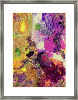 Flowers Of The Cosmic Sea Framed Print