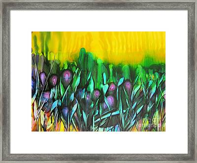 Flowers Of The Land Framed Print by Susan Parsley