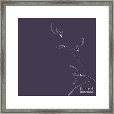 Flowers Of Wild Orchids Artistic Japanese Zen Illustration Flora Framed Print