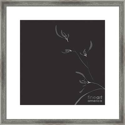 Flowers Of Wild Orchids Elegant Floral Japanese Zen Art Design O Framed Print