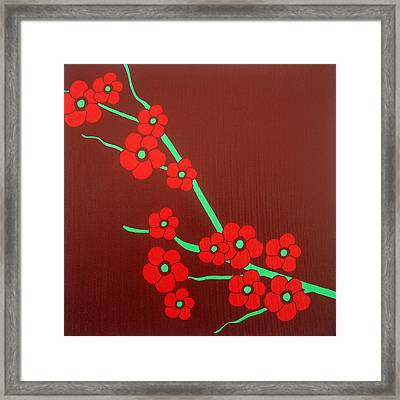 Flowers Framed Print by Oliver Johnston