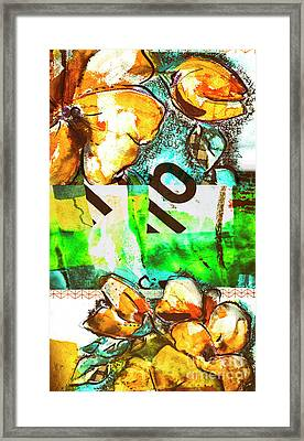 Framed Print featuring the mixed media Flowers On Paper,  Collage And Acrylic by Ariadna De Raadt