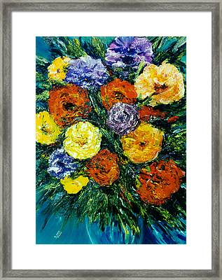 Flowers Painting #191 Framed Print by Donald k Hall