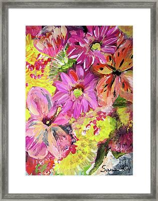Flowers Painting Framed Print by Oksana Semenchenko