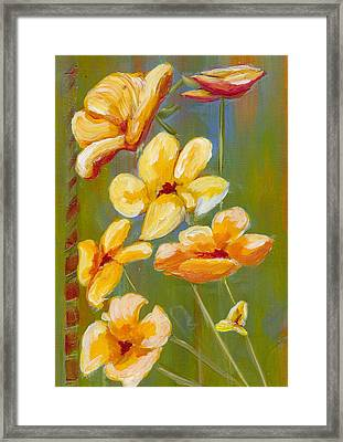 Flowers Framed Print by Patricia Cleasby