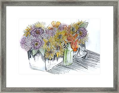 Flowers Framed Print by Robin Lee