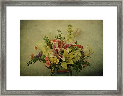 Flowers Framed Print by Sandy Keeton