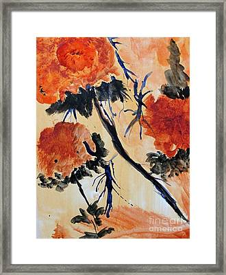 Framed Print featuring the painting Flowers by Sandy McIntire