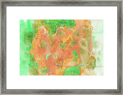 Flowers - #ss16dw042 Framed Print by Satomi Sugimoto