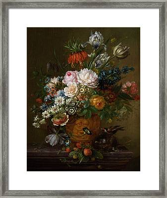 Flowers Still Life Framed Print by Willem van Leen