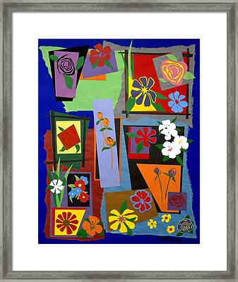 Flowers Study 1 Framed Print by Teddy Campagna