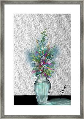 Framed Print featuring the digital art Flowers Study Two by Darren Cannell