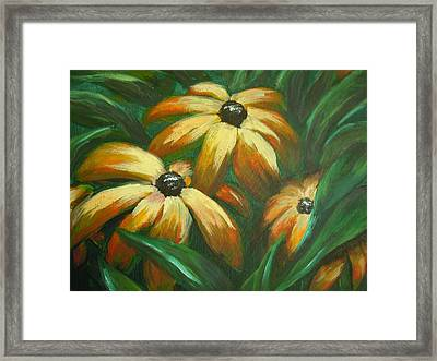 Framed Print featuring the painting Flowers That Don't Sleep by Dan Whittemore