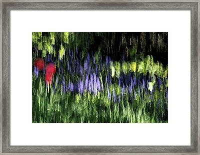 Flowers Thru Wavy Glass Framed Print by ShaddowCat Arts - Sherry