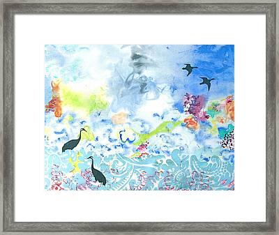 Flowers To Yemanja The Goddess Of The Ocean Framed Print by Gloria Von Sperling