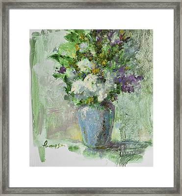 Flowers Framed Print by Tracie Thompson