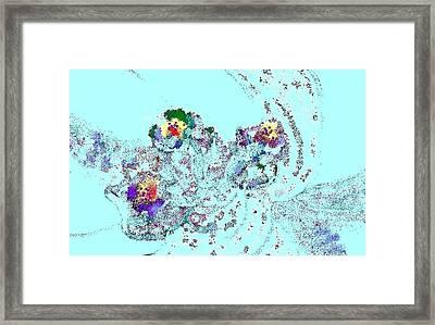 Flowers Under Ice Framed Print by Beebe  Barksdale-Bruner